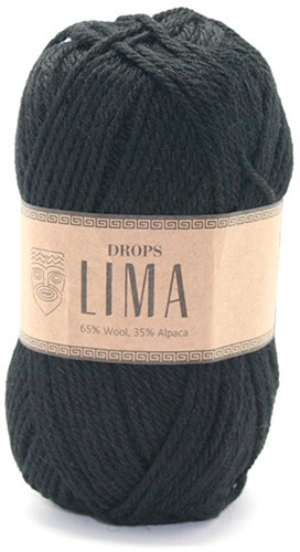 Drops Lima Uni Colour 8903 Schwarz