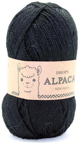 Drops Alpaca Uni Colour 8903 Schwarz