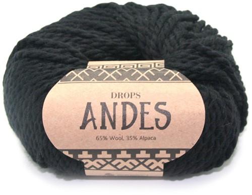 Drops Andes Uni Colour 8903 Schwarz