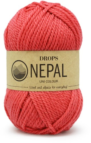 Drops Nepal Uni Colour 8909 Coral