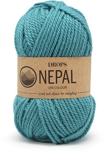 Drops Nepal Uni Colour 8911 Sea-blue
