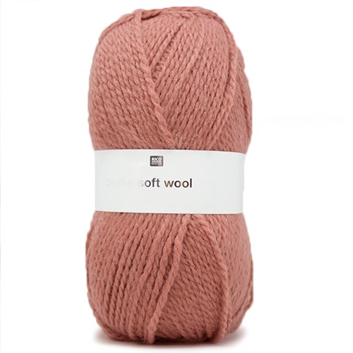 Rico Creative Soft Wool Aran 8 Smokey Rose
