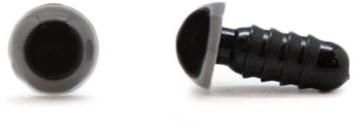 Sicherheitsaugen Grau 8mm 2 Stück