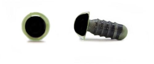 Sicherheitsaugen Olivgrün 8mm pro Paar