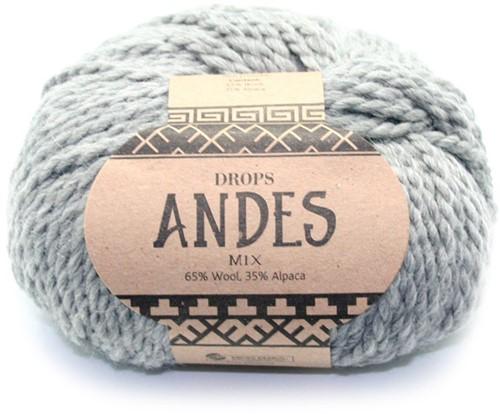 Drops Andes Mix 9015 Grau