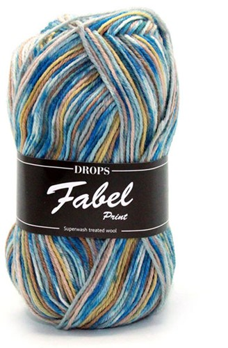 Drops Fabel Print 910 Sea Mist
