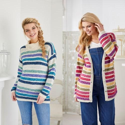 Strickanleitung Stylecraft Batik DK No. 9422 Pullover und Jacke