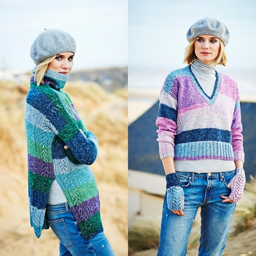 Strickanleitung Stylecraft Batik Swirl DK No. 9535 Pullover und Handschuhe