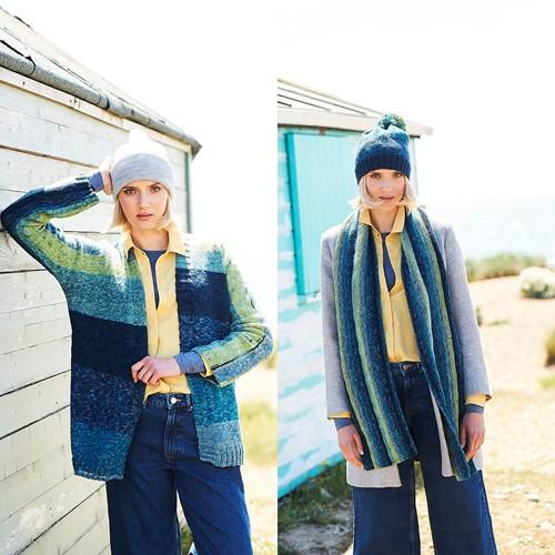 Strickanleitung Stylecraft Batik Swirl DK No. 9673 Jacke, Schal und Mütze