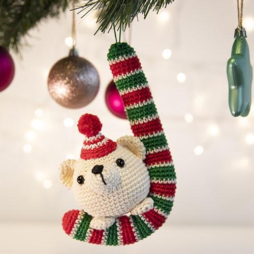 Bär Weihnachtsbaumanhänger Häkelpaket