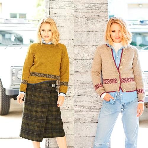 Strickanleitung Stylecraft Highland Heathers DK No. 9794 Cardigan und Sweater