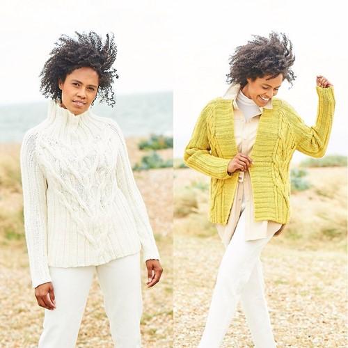 Strickanleitung Stylecraft Softie Chunky No. 9814 Pullover und Jacke