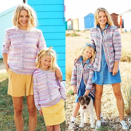 Strickanleitung Stylecraft You & Me DK No. 9824 Pullover und Jacke