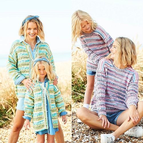 Strickanleitung Stylecraft You & Me DK No. 9826 Pullover und Jacke
