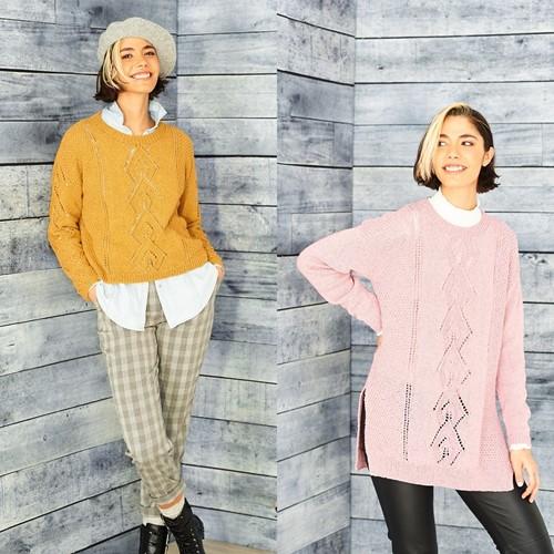 Strickanleitung Stylecraft ReCreate DK No. 9861 Tunika, Pullover und Loopschal