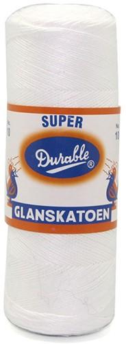 Durable Glanzbaumwolle Nr. 10 09 Weiss