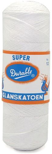 Durable Glanzbaumwolle Nr. 12 09 Weiss