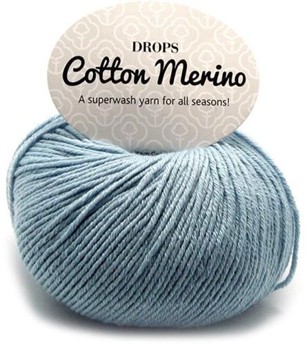 Drops Cotton Merino Uni Colour 9 Eisblau