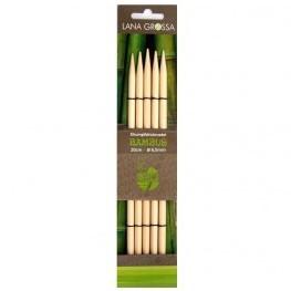 Lana Grossa 20cm Bambus Strumpfstricknadeln 10mm