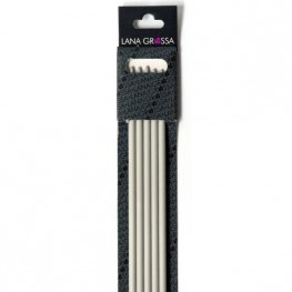 Lana Grossa 40cm Kunststoff Strumpfstricknadeln 6mm