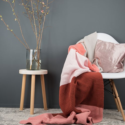 Yarn and Colors Colorblocking-Decke Häkelpaket 1