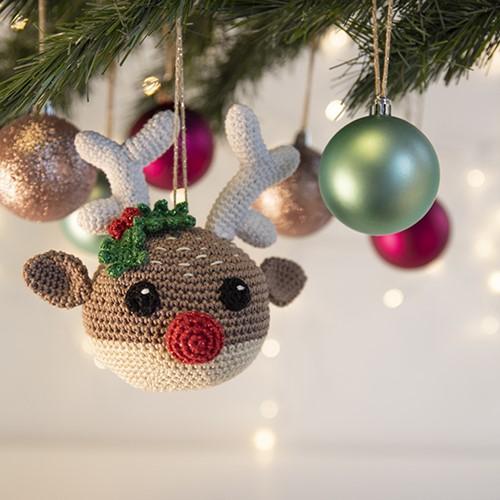 Rentier Weihnachtsbaumanhänger Häkelpaket