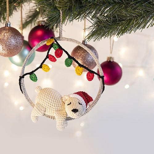 Eisbär Weihnachtsbaumanhänger Häkelpaket