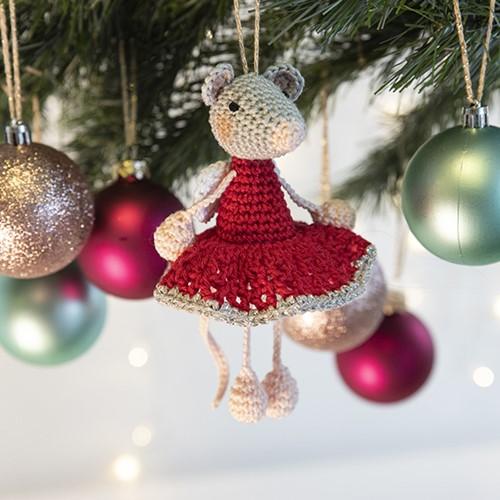 Mini Maus Weihnachtsbaumanhänger Häkelpaket