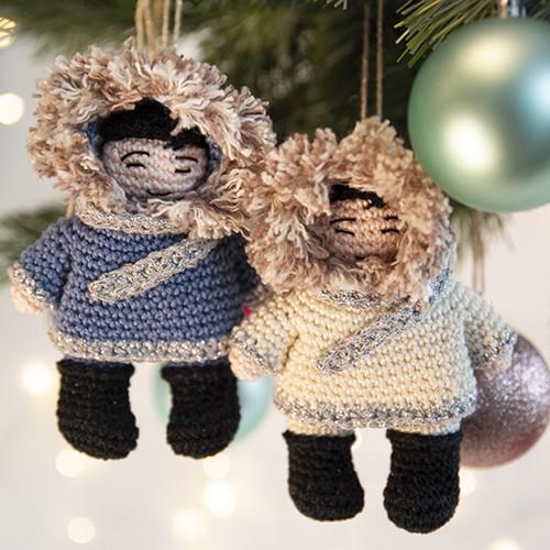 Eskimo Weihnachtsbaumanhänger Häkelpaket