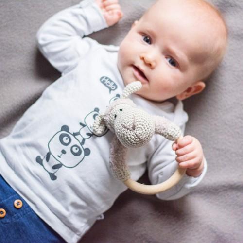 Häkelanleitung Babyrassel Schaf