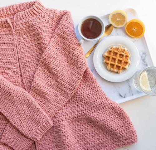 Yarn and Colors Afternoon Tea Cardigan Häkelpaket 2 Rosé S