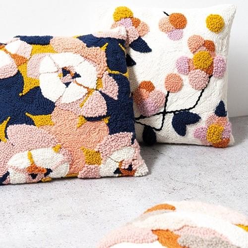 Blüten Kissen Punchneedle Paket 1