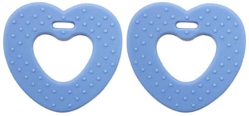 Beißringe Herzchen 14 Babyblau
