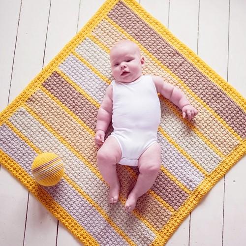 Häkelanleitung Super Charming Babydecke
