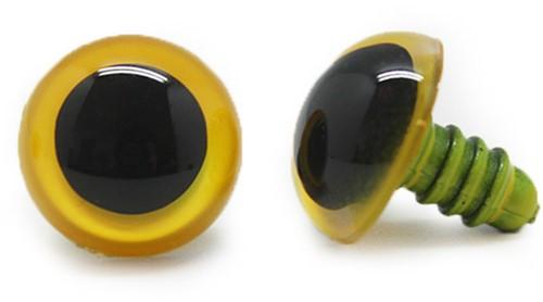 Plastik Sicherheitsaugen Basic Gelb (2 Stück) 21mm