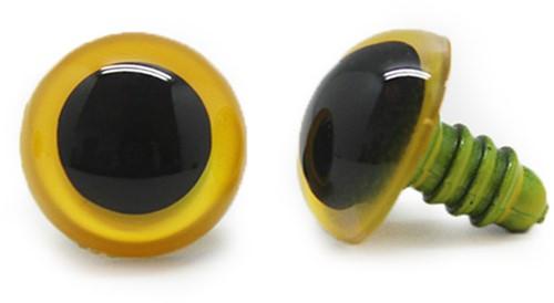 Plastik Sicherheitsaugen Basic Gelb (2 Stück) 24mm