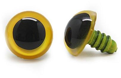 Plastik Sicherheitsaugen basic 010 Gelb 14mm