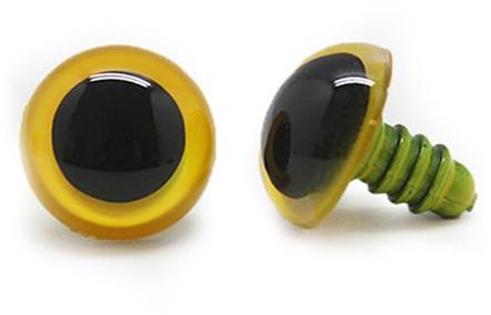 Plastik Sicherheitsaugen basic 010 Gelb 16mm