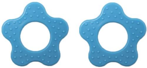 Durable Beißring Blume mit Noppen 298 Blue