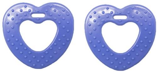 Durable Beißring Herz mit Noppen 296 Blue