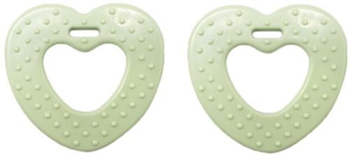 Durable Beißring Herz mit Noppen 369 Pastel Green