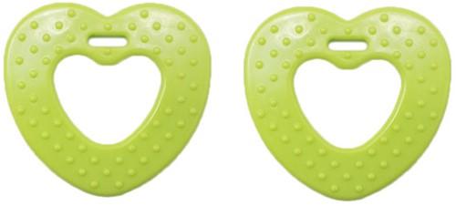 Durable Beißring Herz mit Noppen 567 Green