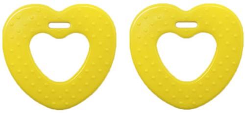 Durable Beißring Herz mit Noppen 645 Yellow