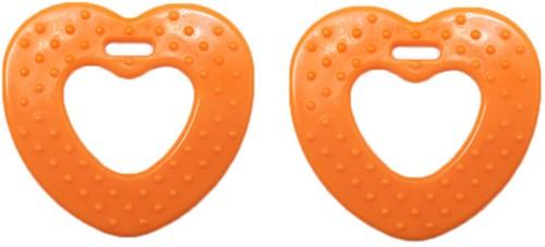 Durable Beißring Herz mit Noppen 693 Orange