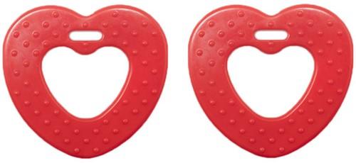 Durable Beißring Herz mit Noppen 722 Red