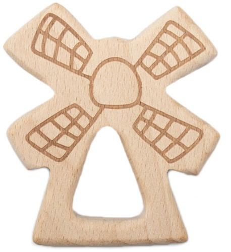 Durable Beißring Holz Windmühle