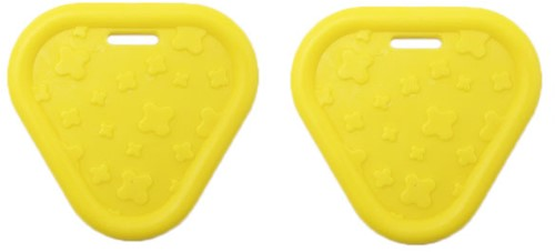 Durable Beißring Triangel 645 Yellow