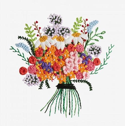 Stickanleitung Blumenstrauß