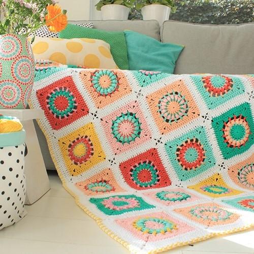 Yarn and Colors Blossom Blanket Häkelpaket