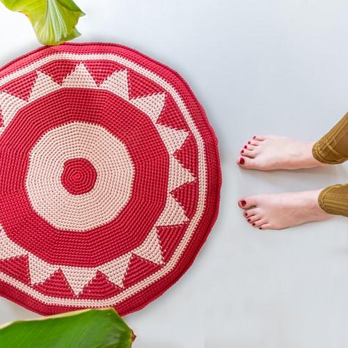 Häkelanleitung Yarn and Colors Boho Floor Cushion